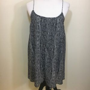 Bishop & young striped baby doll mini dress